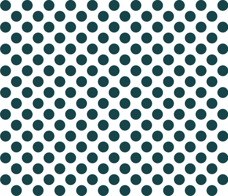 dot_12x12_DeepTeal fabric by curlywillowco on Spoonflower - custom fabric