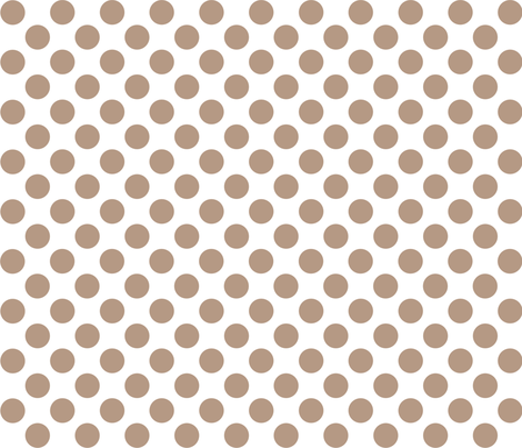 dot_12x12_Nougat fabric by curlywillowco on Spoonflower - custom fabric