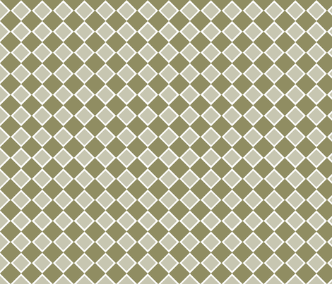 DblDiamond_Cedar fabric by curlywillowco on Spoonflower - custom fabric