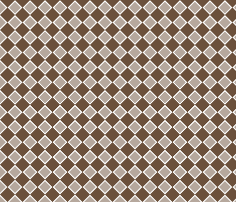 DblDiamond_CoffeeLiqueur fabric by curlywillowco on Spoonflower - custom fabric