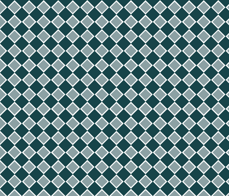 DblDiamond_DeepTeal fabric by curlywillowco on Spoonflower - custom fabric