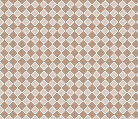 DblDiamond_Nougat fabric by curlywillowco on Spoonflower - custom fabric