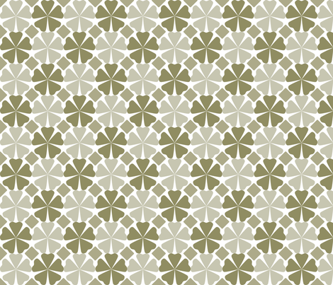 FloralPattern_Cedar fabric by curlywillowco on Spoonflower - custom fabric