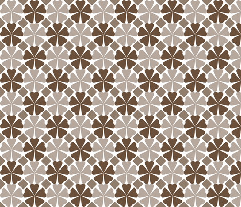 FloralPattern_CoffeeLiqueur fabric by curlywillowco on Spoonflower - custom fabric