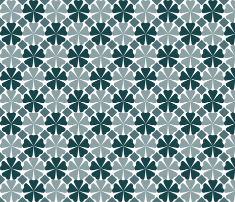 FloralPattern_DeepTeal fabric by curlywillowco on Spoonflower - custom fabric