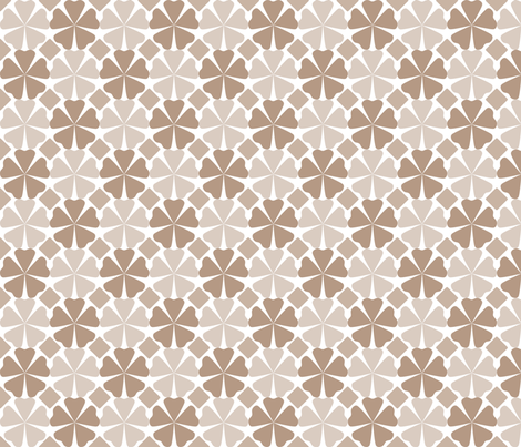 FloralPattern_Nougat fabric by curlywillowco on Spoonflower - custom fabric