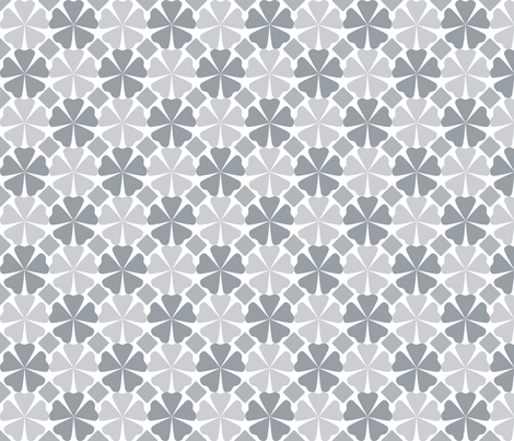 Modern Floral Gray fabric by curlywillowco on Spoonflower - custom fabric