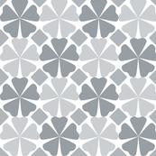 Modern Floral Gray