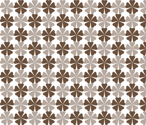 FullFlorals_CoffeeLiqueur fabric by curlywillowco on Spoonflower - custom fabric