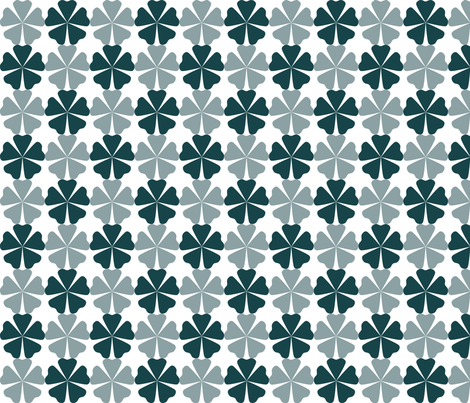 FullFlorals_DeepTeal fabric by curlywillowco on Spoonflower - custom fabric