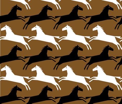 brown horsetooth fabric by slothdaddy on Spoonflower - custom fabric