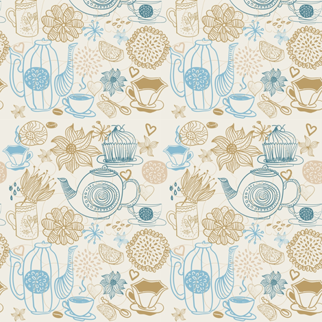 It is a tea time fabric by anastasiia-ku on Spoonflower - custom fabric