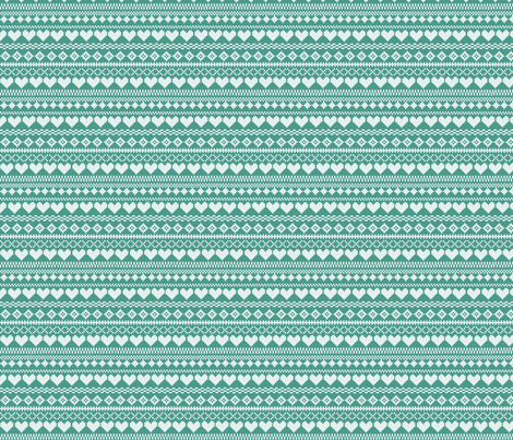 Fair Isle Turquoise fabric by lydia_meiying on Spoonflower - custom fabric