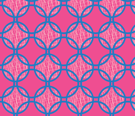 circle scribble ©2012 Jill Bull fabric by palmrowprints on Spoonflower - custom fabric