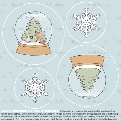 global warming ornament set
