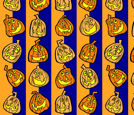 Pumpkinpattern2Oct14-2011 fabric by artzeechris on Spoonflower - custom fabric