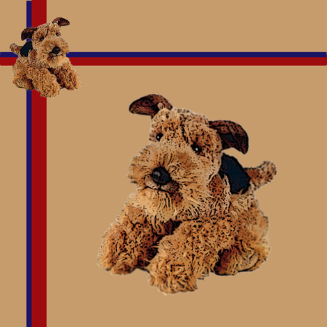 Airedale Puppy fabric by miss_peaches on Spoonflower - custom fabric