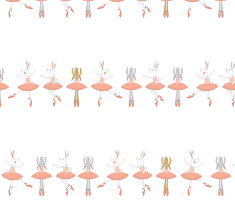 Ballet Dancing Bunnies fabric by delsie on Spoonflower - custom fabric
