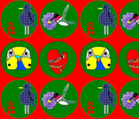 Ornaments fabric by heartfullofbirds on Spoonflower - custom fabric