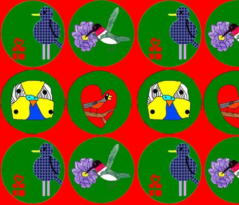 Ornaments fabric by heartfullofbirds on Spoonflower - custom fabric