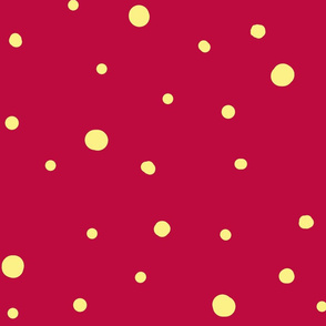 dotty dots - banana on cerise