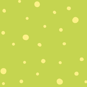 dotty dots - banana on soft green