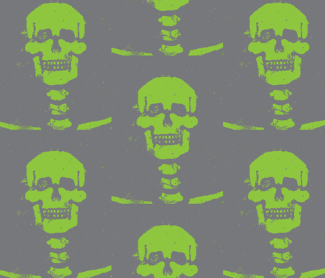 Happy Bones fabric by susaninparis on Spoonflower - custom fabric
