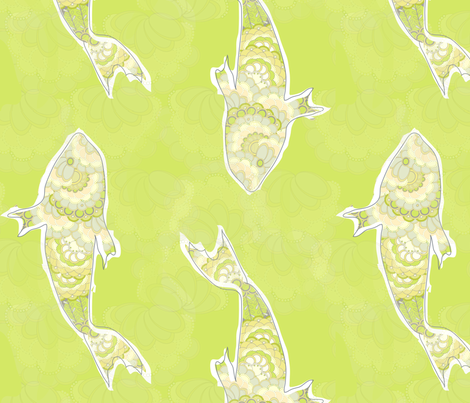 "FRESHWATER in ""FRESHWATER YELLOW"" fabric by trcreative on Spoonflower - custom fabric"