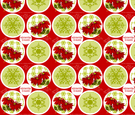 PointsettiasInBloom fabric by thrifty_finn on Spoonflower - custom fabric