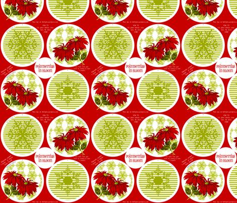 PointsettiasInBloom fabric by thrifty_finn on Spoonflower - custom fabric