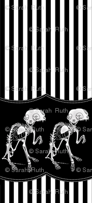 Two headed Cat Skeleton Skirt Print
