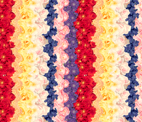 Floral Chevron Multi - railroaded fabric by juliamonroe on Spoonflower - custom fabric