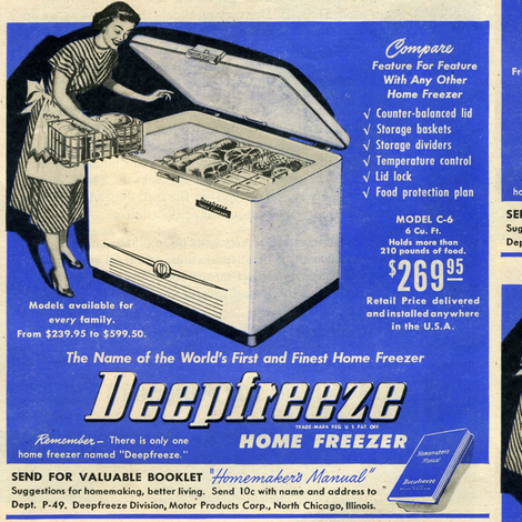 Joy of Housework, part 1, the freezer fabric by edsel2084 on Spoonflower - custom fabric