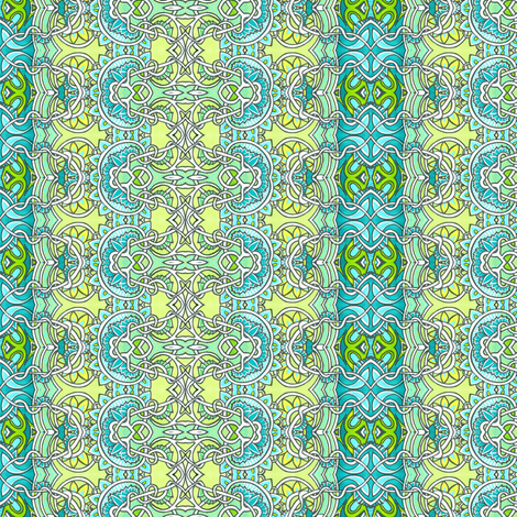 Tangled Aqua Dreams fabric by edsel2084 on Spoonflower - custom fabric