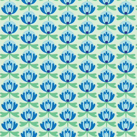 lilliblue fabric by lilliblomma on Spoonflower - custom fabric