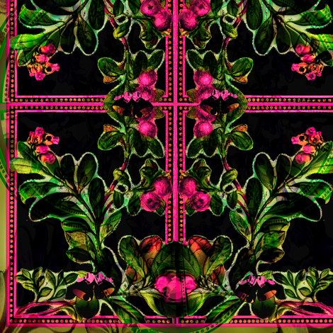 Under The Mistletoe  fabric by whimzwhirled on Spoonflower - custom fabric