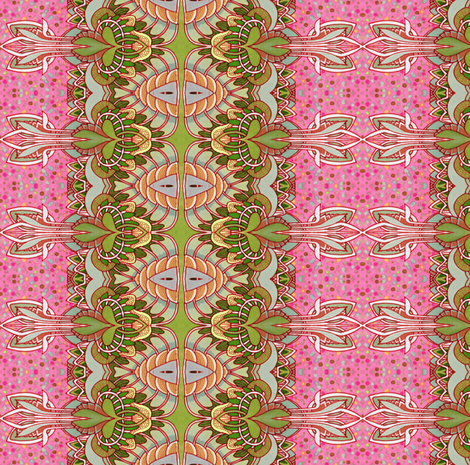 Just Think Pink fabric by edsel2084 on Spoonflower - custom fabric