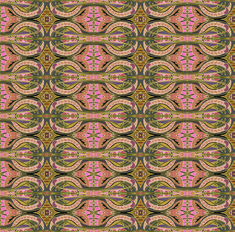 Pseudo Woodblock Circles and Bars fabric by edsel2084 on Spoonflower - custom fabric