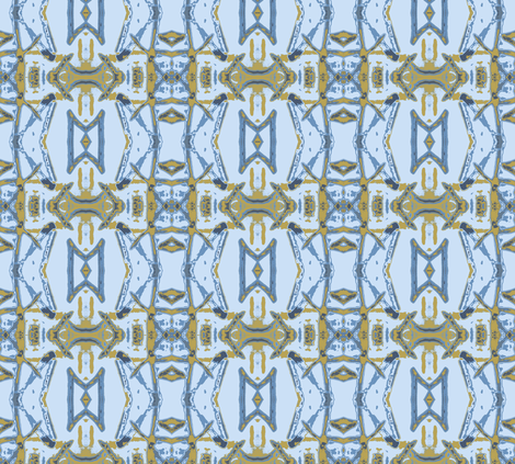 A Dutch Wax Morning - coordinating variation fabric by susaninparis on Spoonflower - custom fabric