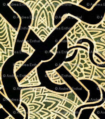 Celtic Brocade (tan/black)