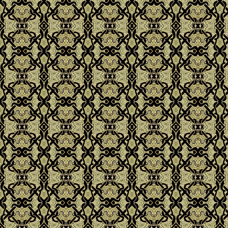 Celtic Brocade (tan/black) fabric by edsel2084 on Spoonflower - custom fabric