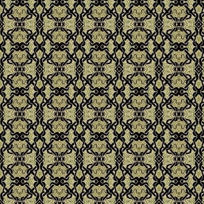 Celtic Brocade (tan/black)