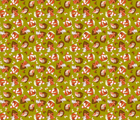 Little forest friends fabric by cjldesigns on Spoonflower - custom fabric