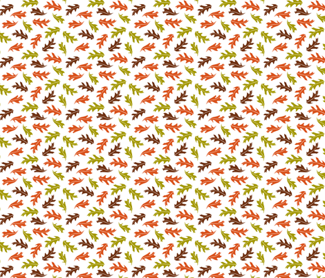Floating leaves fabric by cjldesigns on Spoonflower - custom fabric