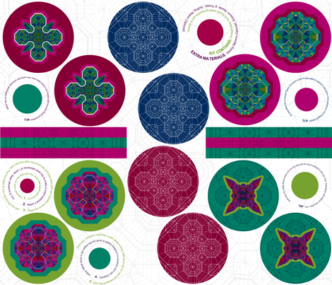 Hanging Ornament fabric by candyjoyce on Spoonflower - custom fabric
