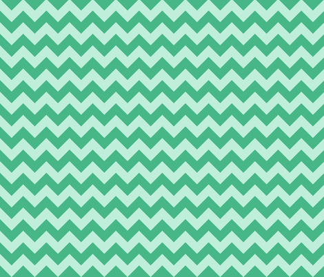 baby elephant green mint chevron fabric by scrummy on Spoonflower - custom fabric