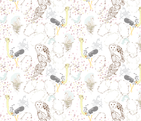 Aviary fabric by marlene_pixley on Spoonflower - custom fabric