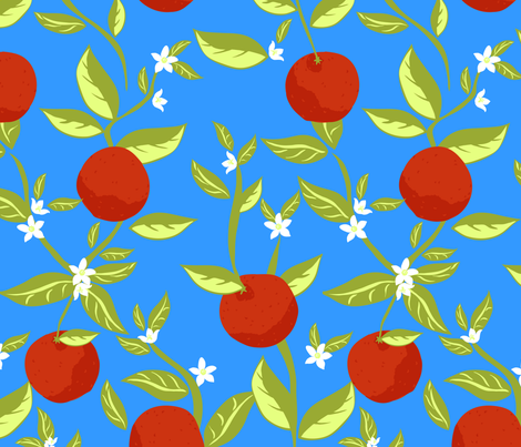 Orange Grove fabric by marlene_pixley on Spoonflower - custom fabric