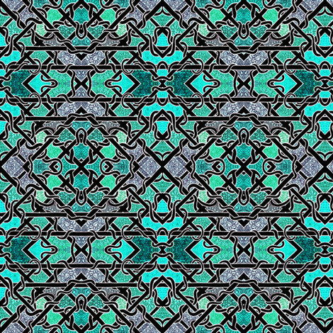 Twisted Teal Textures fabric by edsel2084 on Spoonflower - custom fabric