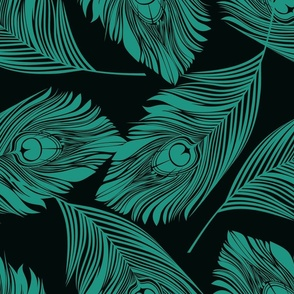 Feathered - Turquoise
